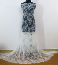 3 Meters French Chantilly Style Eyelash Double Edge Lace Fabric~Wedding Dress