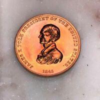 President James Polk Peace and Friendship Bronze Medal Coin Token