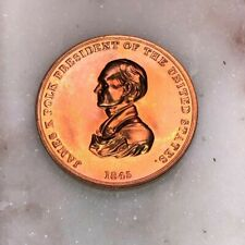 President James Polk Peace and Friendship Bronze Medal Coin Token