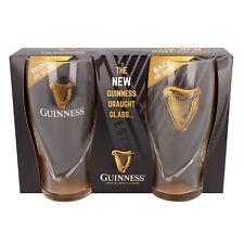 Guinness Logo 2er-Pack Pint-Glas mit geprägter Harfe
