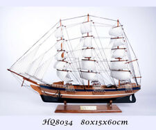 Hobby Collection Vintage Retro Wooden 80cm Sailing Ship Model -Gorch Fock  #8034