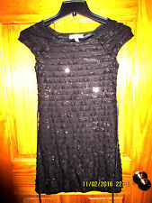 SPEECHLESS special occasion black  ruffled cap sleeves dress for girls Sz 8