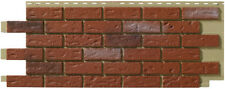 Mobile Home/RV Novik Old Red Blend Simulated Brick Skirting Panel (9 Pieces)