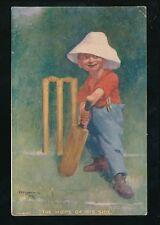 Sport CRICKET artist Kinsella Hope of His Side PPC Used 1907