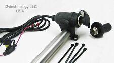 """Motorcycle Cigarette Lighter 12 V Socket Outlet Plug Handlebar Mount & 60"""" Wires"""
