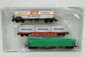 """Spur N--TRIX - 15303 ..Wagen-Set """"Gütertransport DB""""  ..OVP ..G2 /56"""