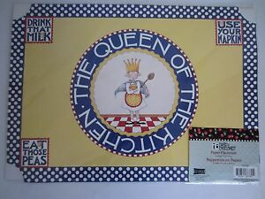 Pack of 6 Mary Engelbreit Queen of the Kitchen Paper Dining Table Placemats NEW