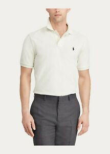 New Polo Ralph Lauren Classic Fit Mesh Polo Shirt Chic Cream NWT 279
