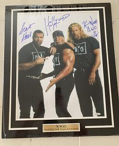 Hollywood Hulk Hogan Kevin Nash Scott Hall NWO WCW WWE Autograph Photo Tristar