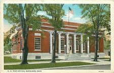 Napoleon OH~US Post Office~1932 Postcard