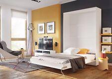Lit Mural Lit Escamotable 140x200 avec Matelas Vertical Lit