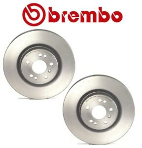 For Mercedes-Benz W164 W251 Set of 2 Front Coated Disc Brake Rotors Brembo 25925