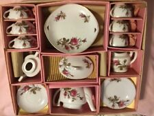 vintage toy china set with original box circa 1950s (some wear and tear on box)