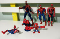 Lot of 6x Marvel Spider-Man Figurines 6-15cm Tall! DIY Spiderverse Kit :)