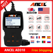 Ancel AD310 OBDII Car Fault Code Reader Engine Scanner Diagnostic Reset Tool