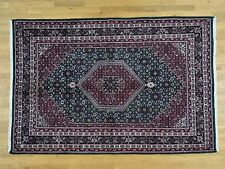 "6'1""x9'2"" Closeout Sale Hand-Knotted Indo Bidjar Pure Wool Oriental Rug R33906"