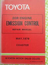 TOYOTA 20R ENGINE  EMISSION CONTROL REPAIR MANUAL COASTER