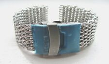 18mm Stainless Steel Shark Mesh Watch Band Bracelet Strap Safety Clasp BNWOT