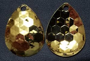 (12)  Gold Colorado #3.5 HEX Spinner Blades  Walleye Candy