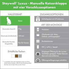 Petsafe Staywell Luxus manuelle Katzenklappe mit vier Verschlussoptionen
