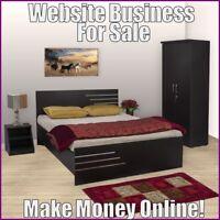 BEDROOM FURNITURE Website Earn $249.00 A SALE|FREE Domain|FREE Hosting|Traffic