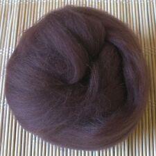 100g Merino Wool Tops 64's Dyed Fibres - Chestnut - Felt Making and Spinning