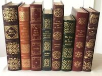 Lot of 8~Easton Press~Classics~Leather~Ribbon~Gilded Edges~Gold Foil~Illustrated