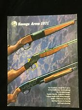 1971 Savage Arms Shotgun Gun Rifle Catalog