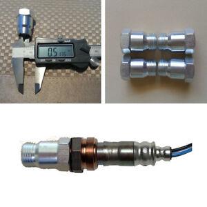 4Pcs M18 X 1.5 Car O2 Oxygen Sensor Extension Spacer Adapter Extender Universal