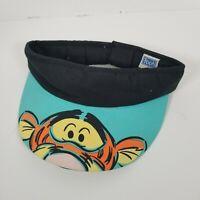 VTG 90's Disney Winnie The Pooh Tigger Graphic Print Cotton Head Visor Sun Hat