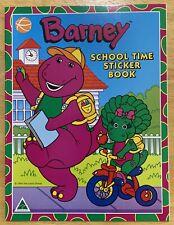 Vintage Barney: 1994 - Australian - School Time Sticker Book