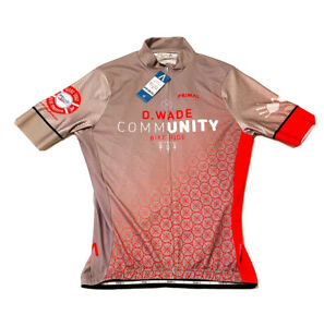 Men's Helix 2.0 Primal Cycling Jersey, D Wade Community Miami, Gray, Size Large