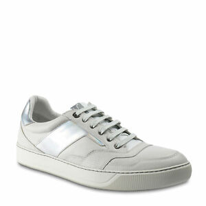 Lanvin Men's low Sneakers white leather with hologram effect laces US 8 - EU 41