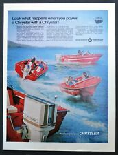 1969 CHRYSLER 85 hp Outboard Boat Motor on Chrysler runabouts Vintage Print Ad