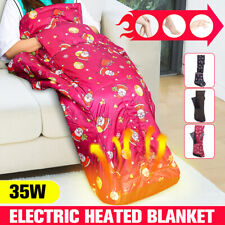 Electric Heated Blanket Warm Cosy Foot Hand Warmer Heating Throws Winter