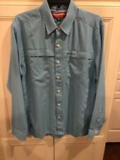 New Simms Men's Ebbtide Long Sleeve Shirt Size XXL MSRP $59.95 Sky Blue