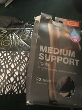BOOTS FASHION TIGHTS ONE SIZE + MEDIUM SUPPORT TIGHTS BLACK SIZE M