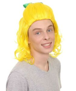 Party Costume Wig for Cosplay Ugly Sister Funny Fairytale Yellow style HM-134