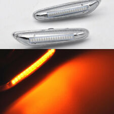 2x Clear LED Side Marker Light For BMW E90 E91 E92 E39 E60 E46 E83 E53 E36 E81
