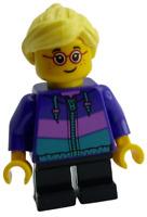 Lego Mädchen mit Brille Sommersprossen Kind Minifigur Figur City cty0908 Neu