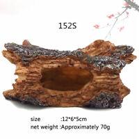 Log Cave Tree Hideaway Aquarium Fish Tank Resin Hidden Ornament Decor EA7X