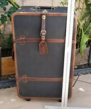 Vintage Mulholland Holland Brothers Leather Travel Trunk Case Luggage Bag 34""