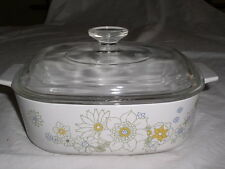 Corning Ware A-2 FLORAL BOUQUET Pattern 2qt Covered Casserole