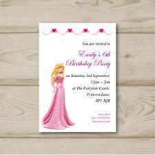 Disney Princess Aurora Birthday party invitations Sleeping Beauty Personalised