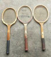 Bulk Vintage Wood Tennis Racquet. DUNLOP MAXPLY/FUTABAYA/EMRIK WOOD