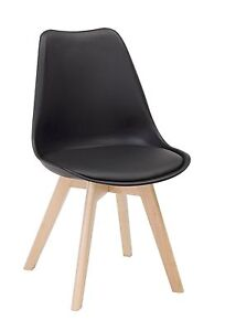 Chair Line CMS 49x42x82H Packaging 4 Pieces, Black