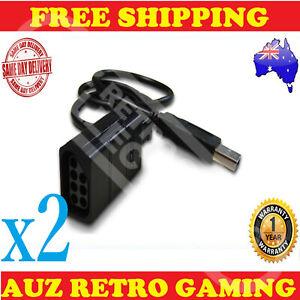 2x NES Original Nintendo USB Controller Converter Cable For / To Windows PC USB