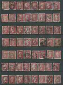 Id REDS GREAT BRITAIN DUPLICATED LOT FOR PLATING VERY MIXED CONDITION 2 SCANS
