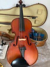 Alte Geige mit Geigenkasten Geigenbogen und Zubehör Dachbodenfund