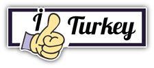 I Like Turkey Travel Slogan Car Bumper Sticker Decal Sizes